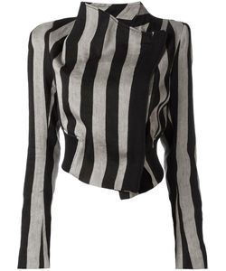 Ann Demeulemeester   Striped Cropped Jacket 40