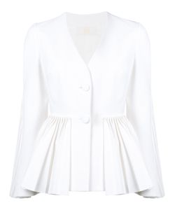 Sara Battaglia | Pleated Hem Jacket