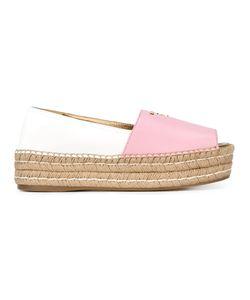 Prada | Peep Toe Platform Espadrilles Size 40