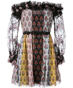 Giamba | Printed Off Shoulder Dress Size 42