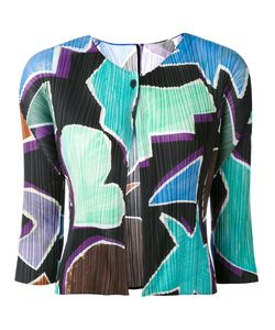 Pleats Please By Issey Miyake | Geometric Print Cropped Jacket