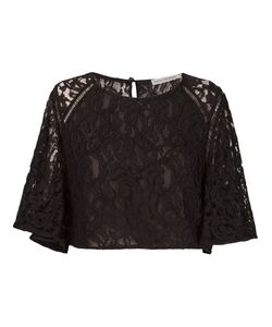 Martha Medeiros | Marescot Lace Crop Top
