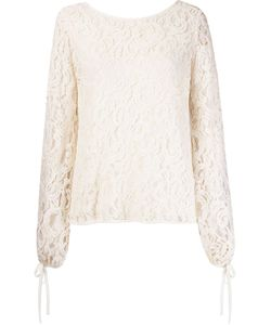 Martha Medeiros | Marescot Lace Plunging Back Blouse
