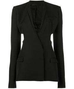 Haider Ackermann   Cutout Single Breasted Blazer Size 40 Cotton/Rayon/Virgin