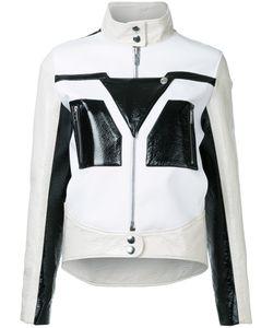 Courrèges   Graphic Contrast Faux Leather Jacket