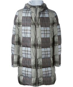 Moncler Gamme Bleu | Patchwork Padded Coat Polyamide/Cotton/Cupro/Feather