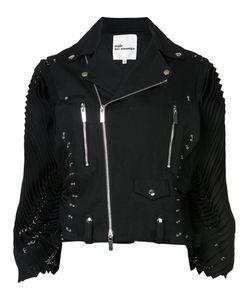 Comme Des Garçons Noir Kei Ninomiya | Pleated Sleeves Biker Jacket