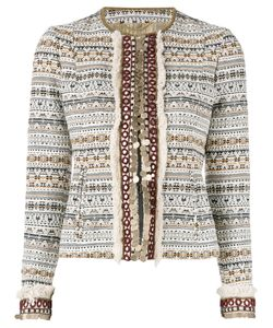 Bazar Deluxe   Embellished Cropped Jacket Size 40