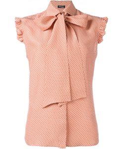 Kiton   Printed Sleeveless Shirt 44 Silk