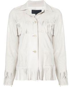 Nili Lotan   Fringed Leather Jacket