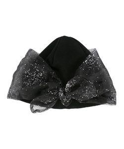 Federica Moretti | Glitter Bow Detail Beanie