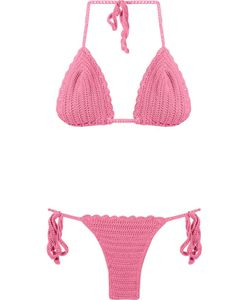 Skinbiquini | Pattern Knit Triangle Bikini Set