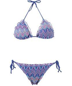 Brigitte | Tricot Triangle Top Bikini Set