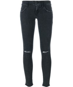 +People | Destroyed Knee Skinny Jeans