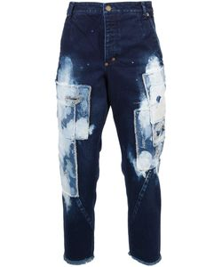 Song For The Mute | Bleached Patchwork Jeans