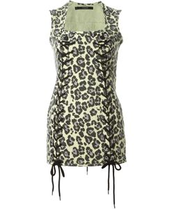 Sibling | Leopard Print Mini Dress Medium
