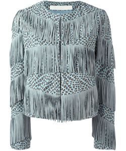 Drome | Fringed Leopard Print Jacket Small