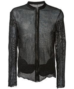 Salvatore Santoro | Mesh Woven Leather Jacket 46 Sheep