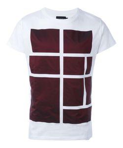 Letasca   Bordeaux Squares Print T-Shirt