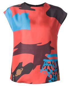 Juan Carlos Obando   Printed Silk Blouse