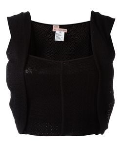 And Re Walker | Woven Overlay Detail Cropped Top