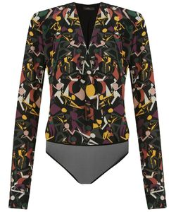 Andrea Marques | Wrapped V-Neck Printed Body