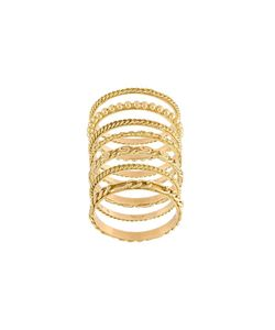 Wouters & Hendrix Gold | Set Of 4 Sculpted Rings