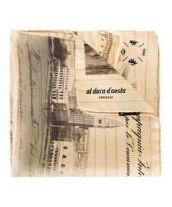 Al Duca D'Aosta | 1902 Landscape Print Scarf Silk