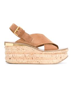 Chloé | Camille Wedge Sandals 38.5