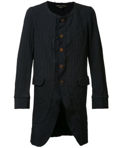Comme Des Garçons Homme Plus   Pinstripe Collarless Coat Size Xl