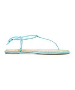 Rene Caovilla | René Caovilla Embellished T-Bar Flat Sandals