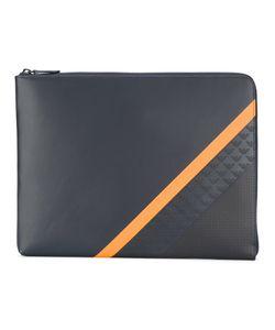 Emporio Armani | Contrast Stripe Laptop Bag Men Calf