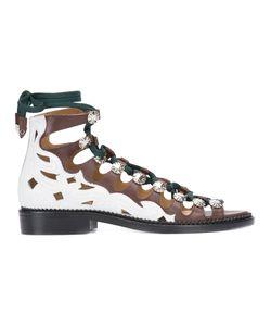 Toga Pulla   Hi-Top Lace-Up Sandals Size 36