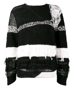 Ann Demeulemeester | Distressed Stripe Sweater Size Large