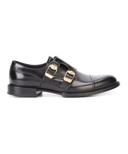 Versace | Double Buckle Norman Derby Shoes Calf