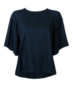 Muveil | Fla Ruffled Blouse 38 Cotton/Tencel