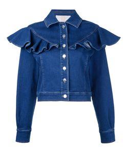 Sara Battaglia | Ruffled Denim Jacket Size 44