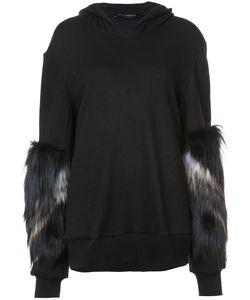 Sally Lapointe | Fur Sleeve Hoodie Women