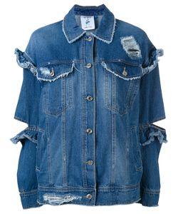 Steve J & Yoni P | Ruffle Cut Denim Jacket