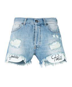 Gaelle Bonheur | Printed Pockets Denim Shorts