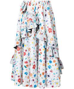 G.V.G.V.   Print Gathe Skirt 34 Nylon
