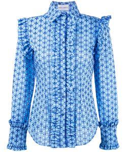 Daizy Shely | Ruffled Trim Printed Shirt 40 Cotton
