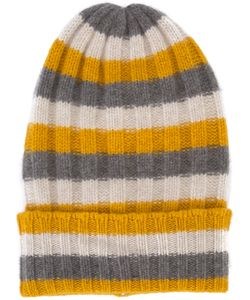 The Elder Statesman | Cashmere Striped Beanie Adult Unisex Cashmere
