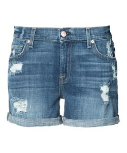 7 For All Mankind | Distressed Denim Shorts