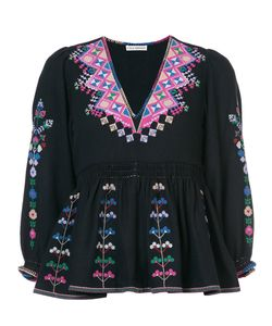 Ulla Johnson | Embroidered V-Neck Top