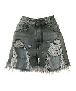R13 | Shredded Trim Denim Shorts Size 27