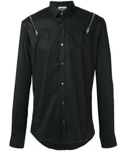 Les Hommes Urban | Zipper Detail Shirt 50 Cotton/Spandex/Elastane