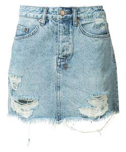 Ksubi   Ripped Denim Skirt 25 Cotton