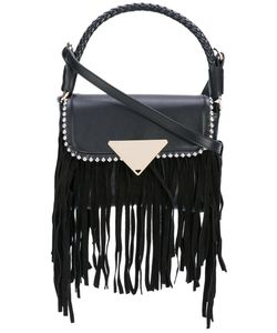 Sara Battaglia | Fringed Stud Shoulder Bag Women Calf