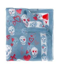 Alexander McQueen | Heart And Skull Print Scarf